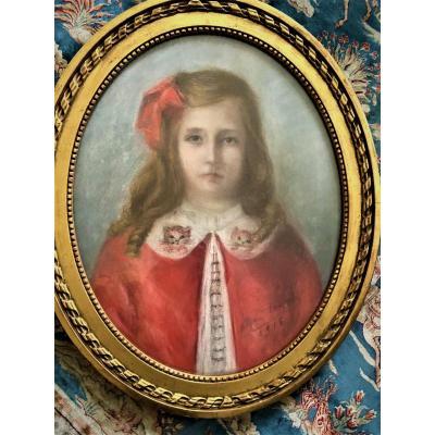 Portrait d'une fille, Pastel 1916