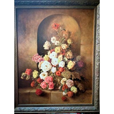 Flower Basket In A Niche
