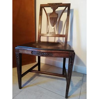 English Chair Epoque XVIIIth Mahogany