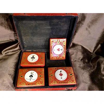 Boîte à Jeu de quadrille d'époque Louis XV