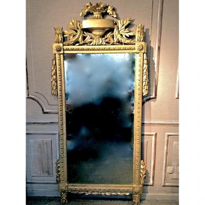 Great Carved And Gilded Wood Mirror Louis XVI
