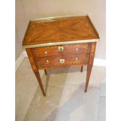 Table Chiffonnière de Nicolas Petit époque Louis XVI