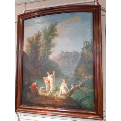 """grand tableau """" les cascatelles de Tivoli """" XVIIIème siècle"""