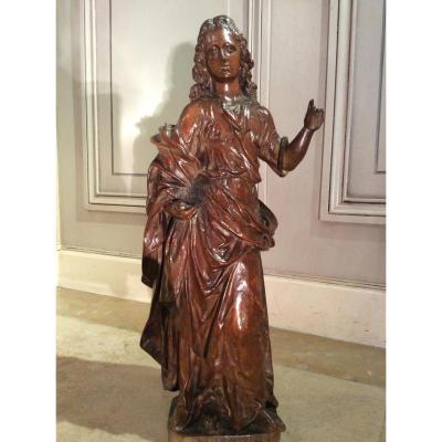 St Etienne en bois sculpté