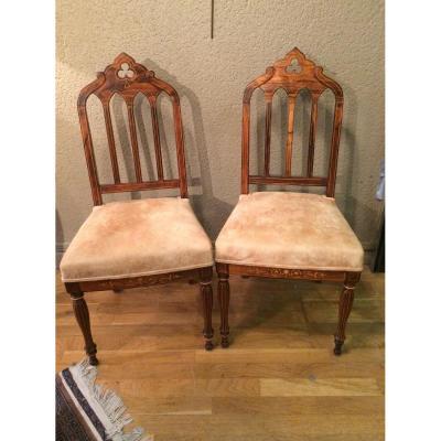 Paire de chaises d'époque Charles X