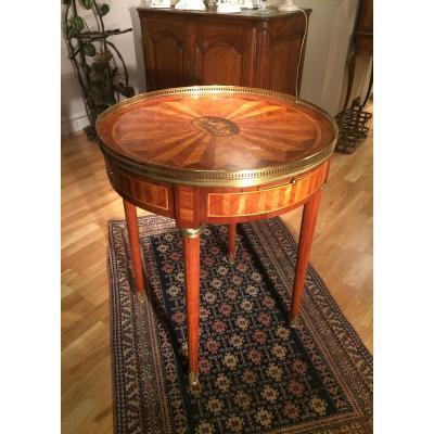 Table bouillotte de style Louis XVI, XIXème siècle