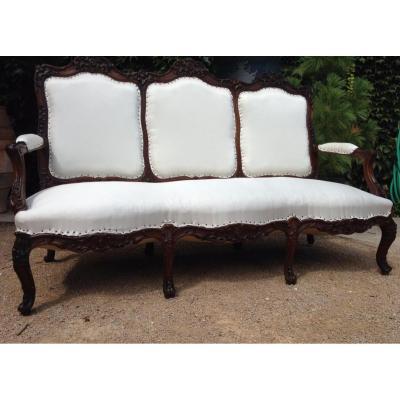 Canapé de style Régence, XIXème siècle