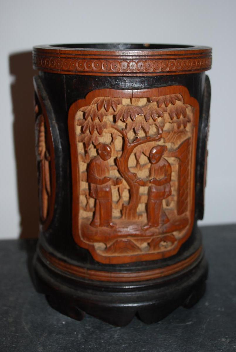 19th China Brush Pot