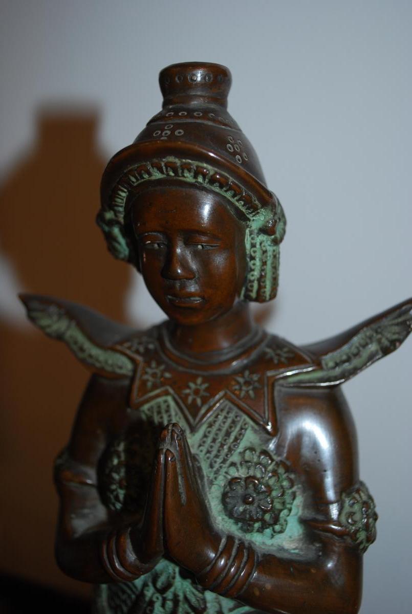 Danseuse Bronze Indochine-photo-3