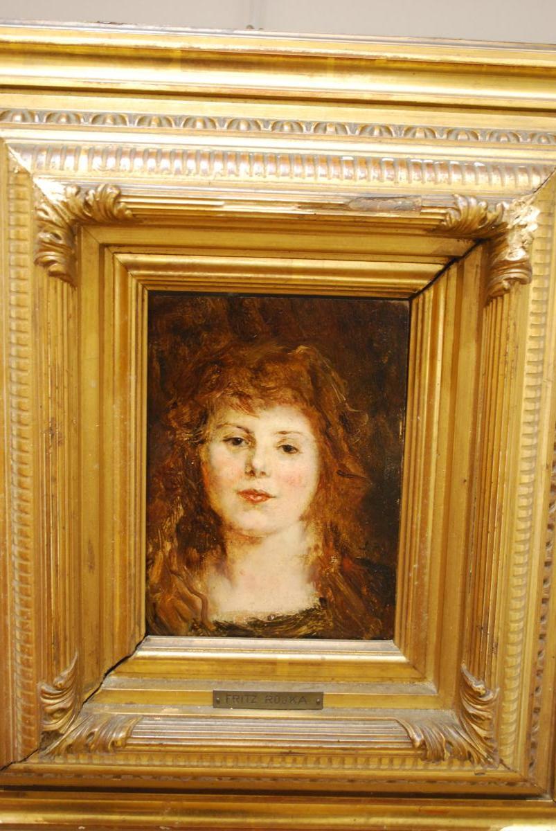 Portrait De Femme Par Fritz Rojka