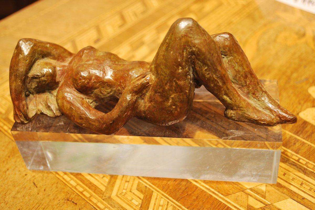 Female Nude Bronze Sculpture By Madeleine Tézenas Du Moncel