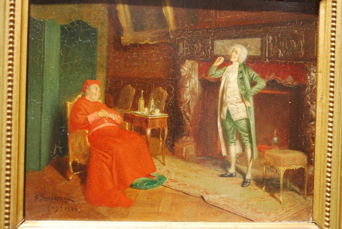 Cardinal Dans Un Salon Du Dix Huitième Siècle-photo-2