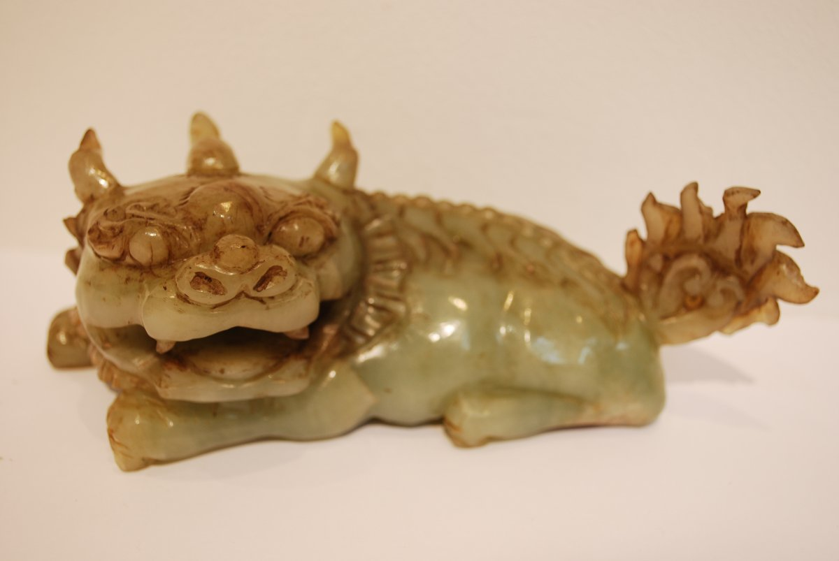 Chinese Fad Dog In Jade Celadon