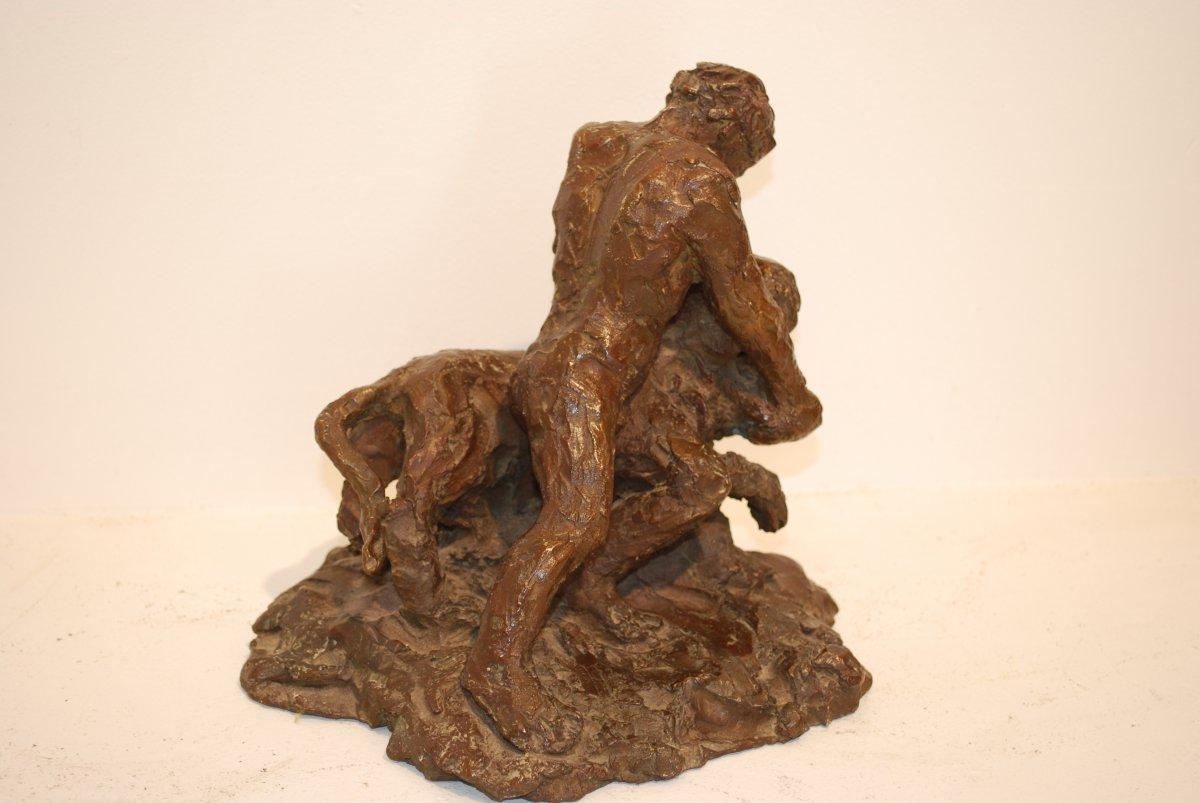 Les  Travaux d'Hercule sculpture en bronze par Madeleine Tézenas du Montcel-photo-2
