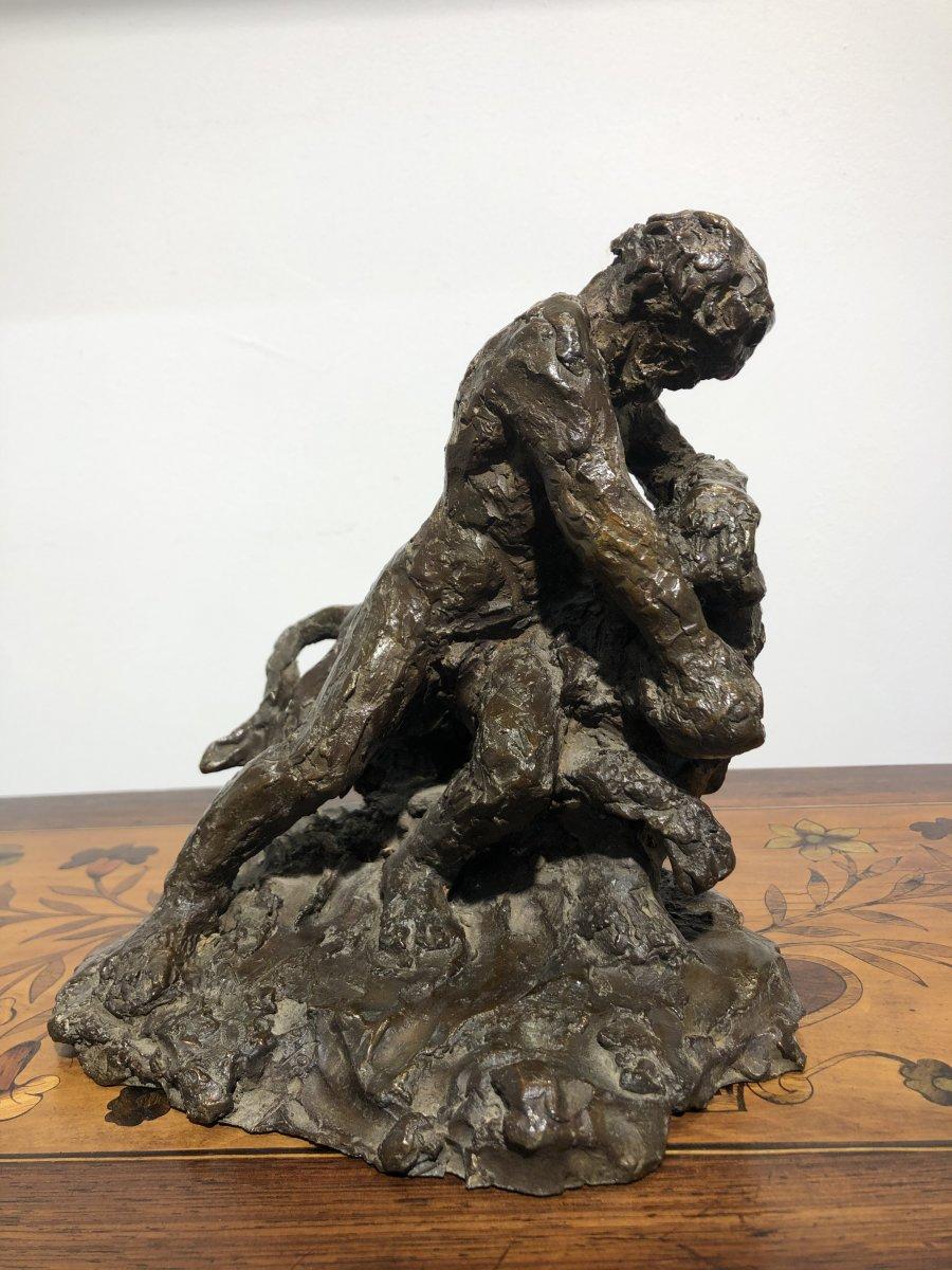 Les  Travaux d'Hercule sculpture en bronze par Madeleine Tézenas du Montcel