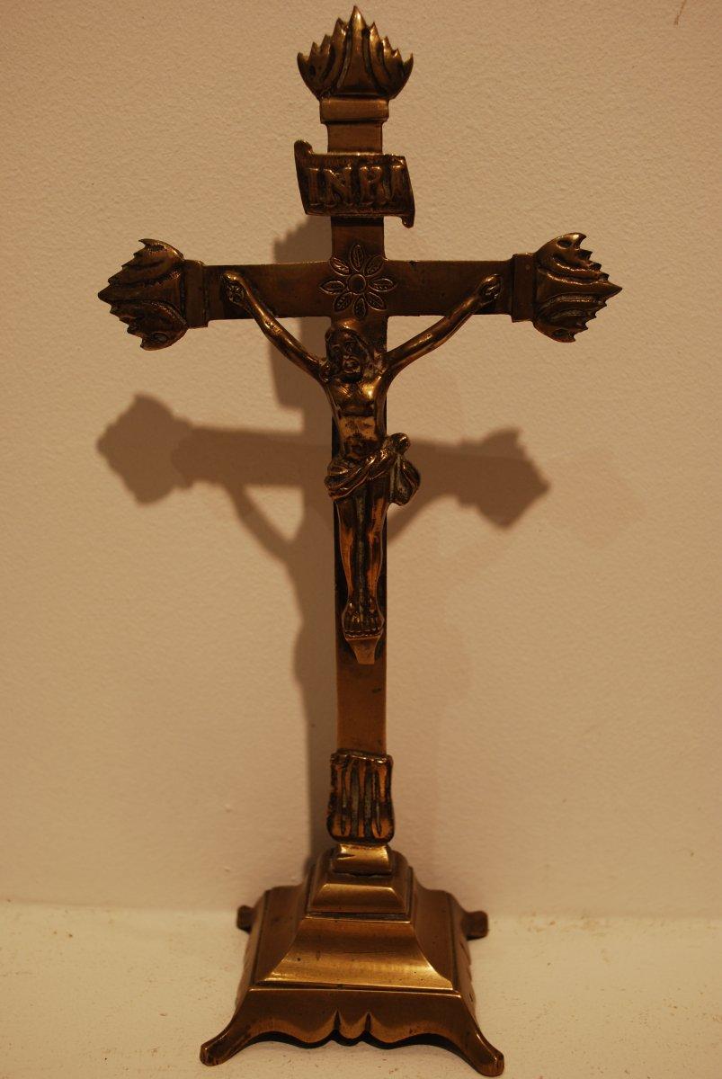 Seventeenth Century Bronze Crucifix