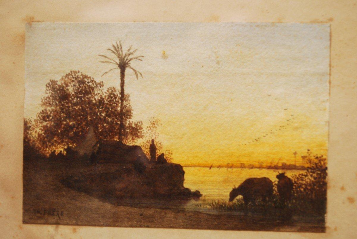Paysage Orientaliste Par Théodore Frère-photo-1