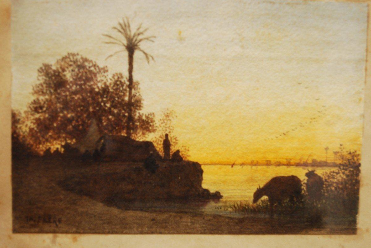 Paysage Orientaliste Par Théodore Frère