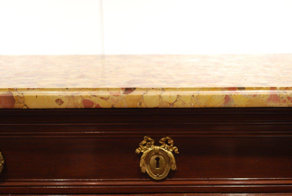 Secrétaire En Placage d'Acajou d'époque Louis XVI Estampillé Stumpff  XVIIIème-photo-4