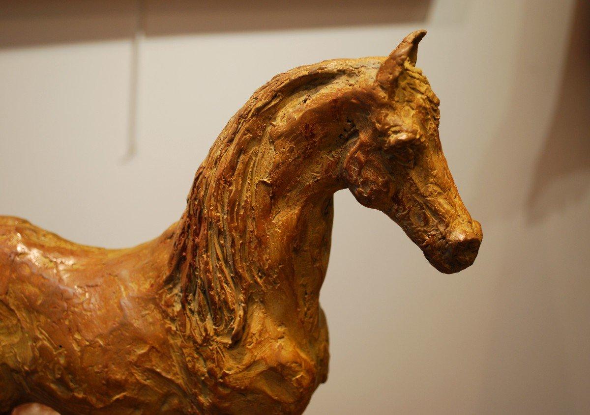 Pur Sang Arabe Sculpture En   Bronze Par Madeleine Tézenas Du Montcel signé N°2/8-photo-2