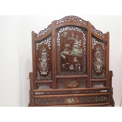Ecran De Table Chine XIXè