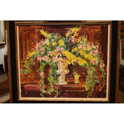 Gouache Bouquet Of Flowers By Cavaglieri