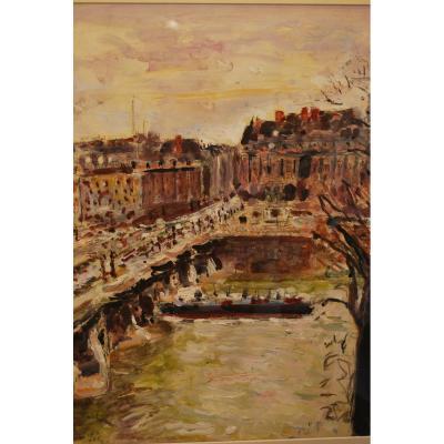 The Seine In Paris By Mario Cavaglieri
