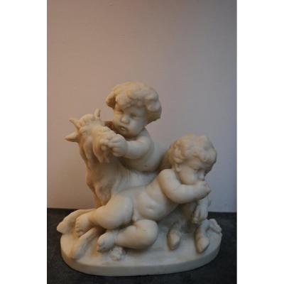 Marble Sculpture Group Of Angels