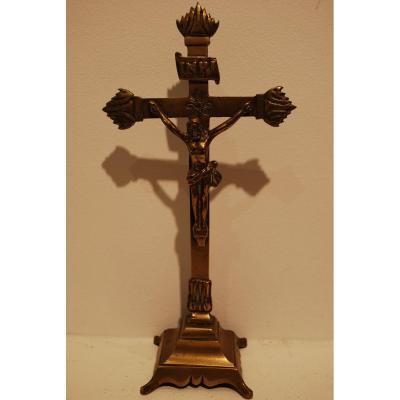 Crucifix En Bronze Dix Septième Siècle
