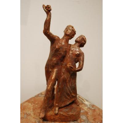 Statue Bronze Cire Perdue Madeleine Tézenas du Montcel