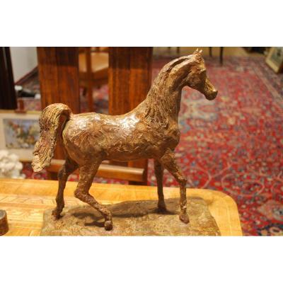 Arabian Thoroughbred Bronze With Wax Lost By Madeleine Tézenas Du Montcel