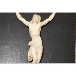 Christ En Ivoire Finement Sculpté