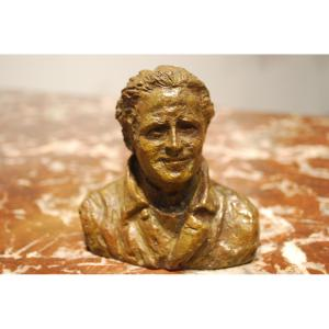 Buste En Bronze De Jean Mermoz Par Madeleine Tézenas Du Montcel 8/8
