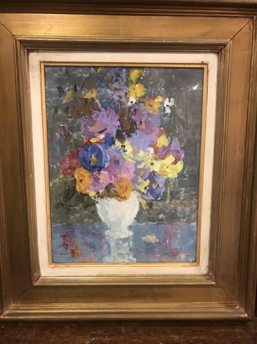 Bouquet Of Flowers By P. Genet