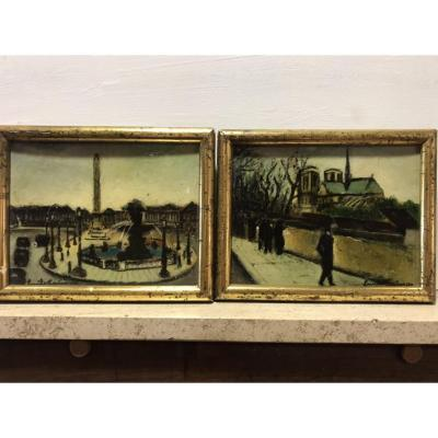 Two Views Of Paris
