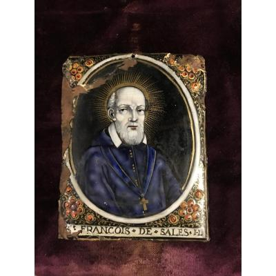 Enamel Of St François De Sales By J. Laudin