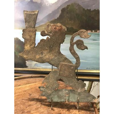 Wrought Iron Weather Vane Or Sign Element
