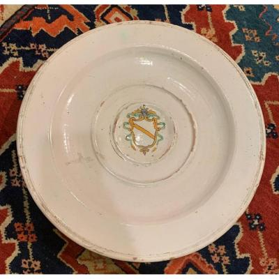A Plate With Noble Coats Of Arms. XVIIsiècle