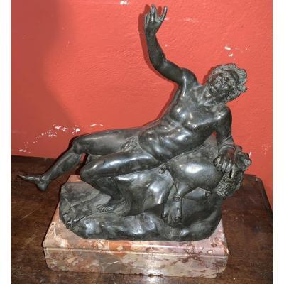 Statue De Satyre En Bronze.  Fin XVIII Siècle