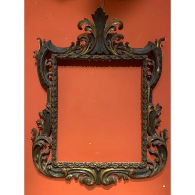 Venetian Lacquered And Gilded Frame.end Of XVIIsec.