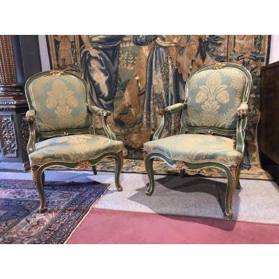 Pair Of Venetian Armchairs.