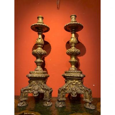 Pair Of Candelabra From The  Early Eighteenth Century.