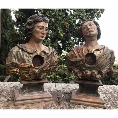 Pair Of Busts XVIIsec.