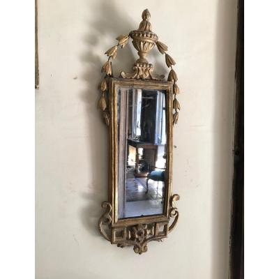 Small Tuscan Mirror From The Eighteenth Century.