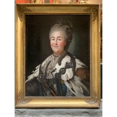 Portrait Of Ekaterina Ii, Empress Of Russia. End Of The Eighteenth Century