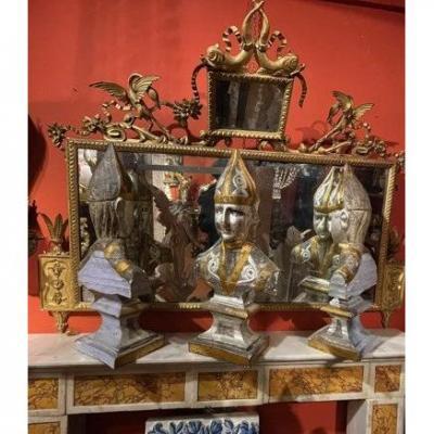 Trois Bustes d'évêques.