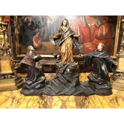 Groupe Sculptural Avec l'Ascension De La Madone.