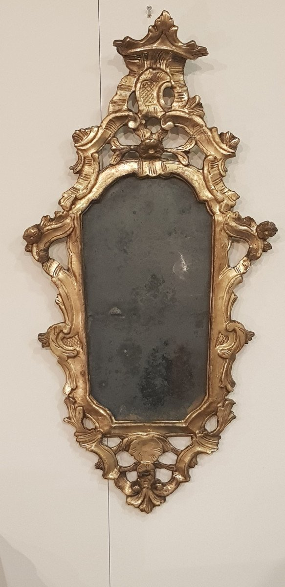 Louis XIV Period Mirror With La Feuille d'Or