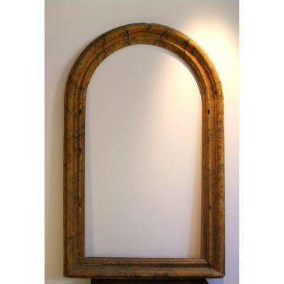Ocher Lacquered Faux Marble Frame