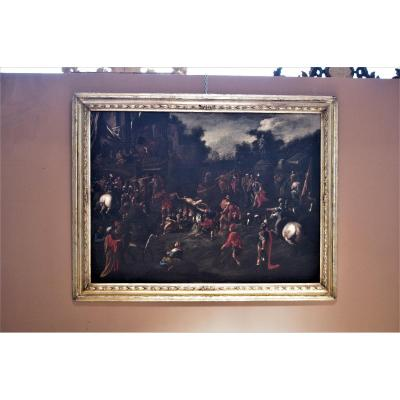 The Martyrdom Of San Lorenzo, Oil On Canvas, 17th Century Period